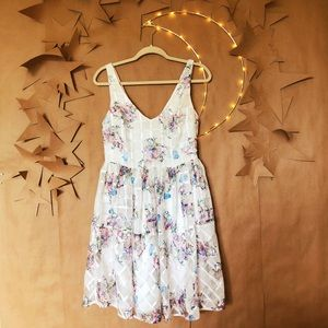 ✨ NWT Anthro Maeve Peony Garden Organza Dress ✨